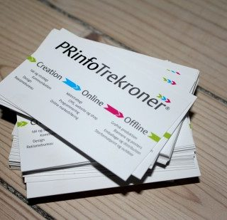 visitkort bussines card prinfotrekroner a s